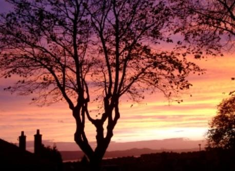 Sunset from front door