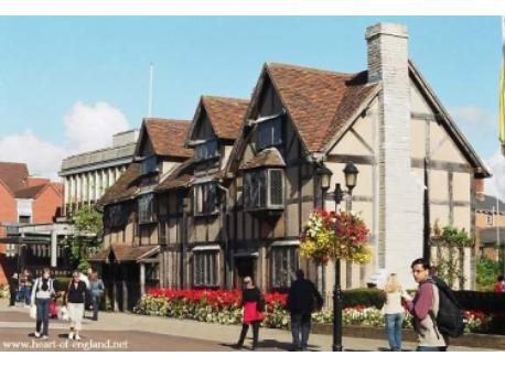 Stratford Upon Avon, 30 mins drive from our home.