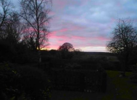 Sunset viewed from the sitting room