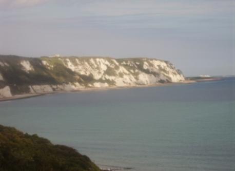 nearby cliffs