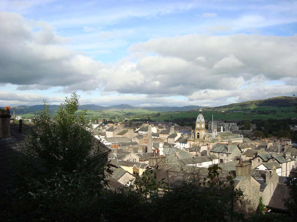 View from Terrace looking over Kendal