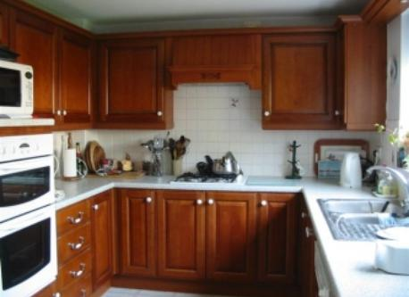Kitchen - now transformed with cream doors to units