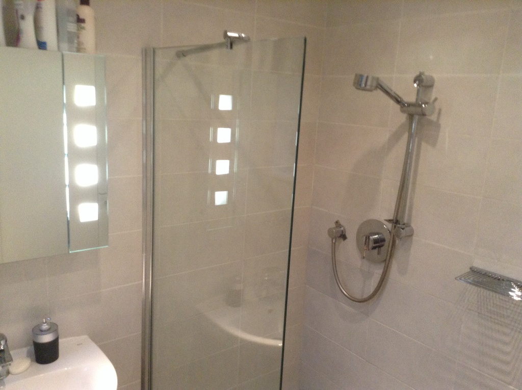 Another view of the downstairs shower room
