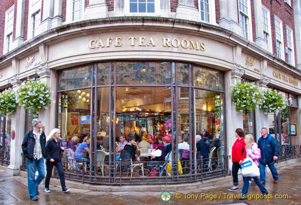 Betty's Tea Rooms York. Famous for traditional English Afternoon Tea and cakes.