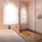 wet room (bath with shower, walk-in shower, basin, toilet)