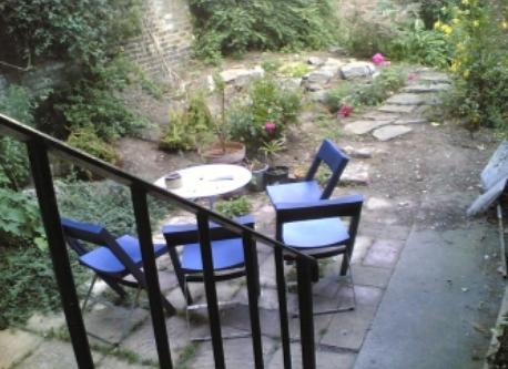 the garden and patio