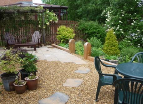 Upper part of rear garden