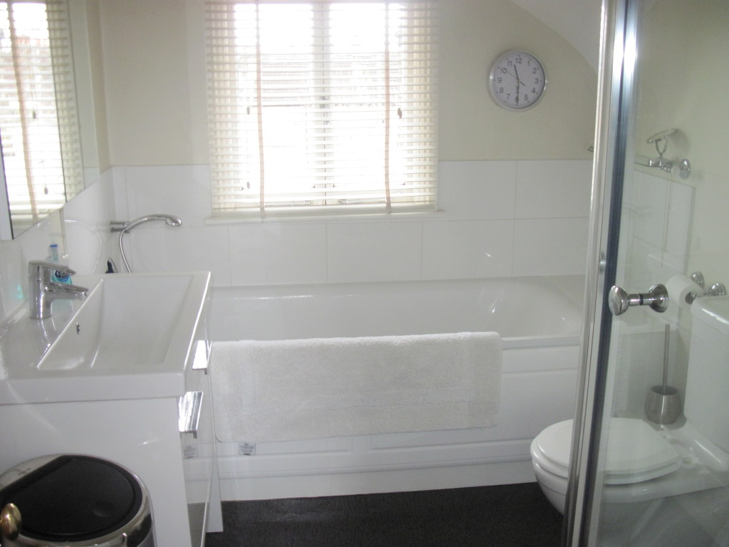 Top floor bathroom with separate shower cubicle