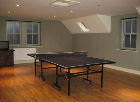 table tennis room badgers hollow above the garages