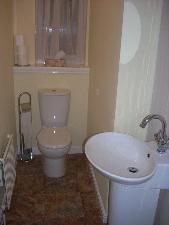 A small toilet downstairs