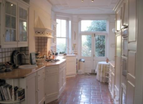 modernized Edwardian kitchen