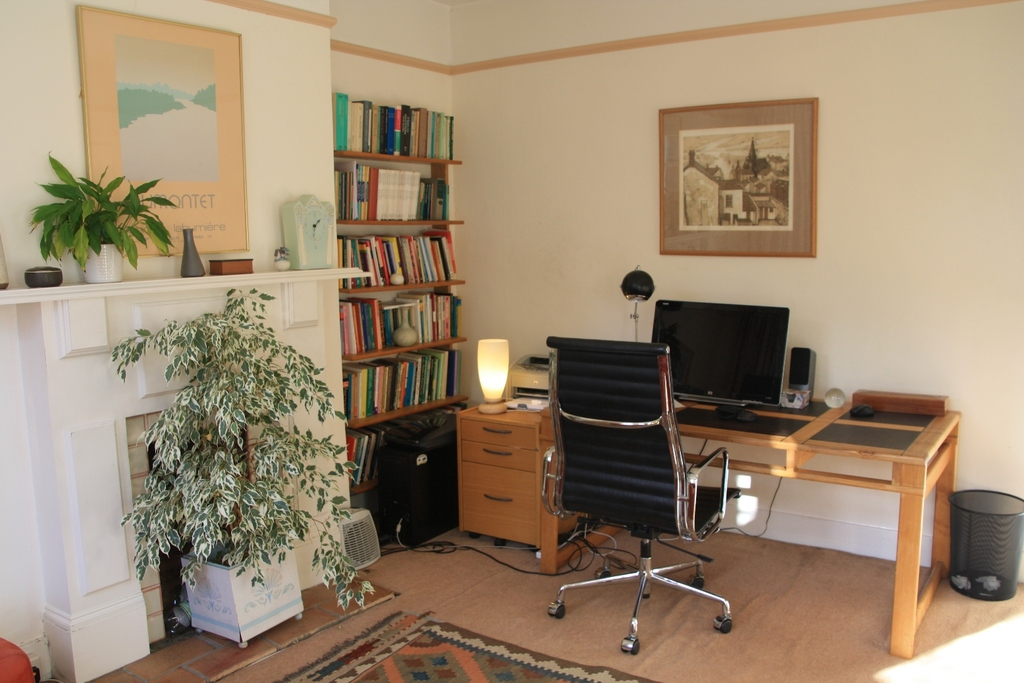 our study,and consulting room with a sofabed