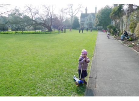 Grange gardens is approximately 200 metres away