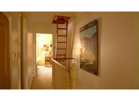 Access to the loft room is by a purpose-built ladder that may be unsuitable for younger children