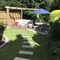 Sunny garden and seating area