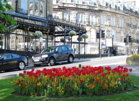 The elegant spa town of Harrogate (21km)