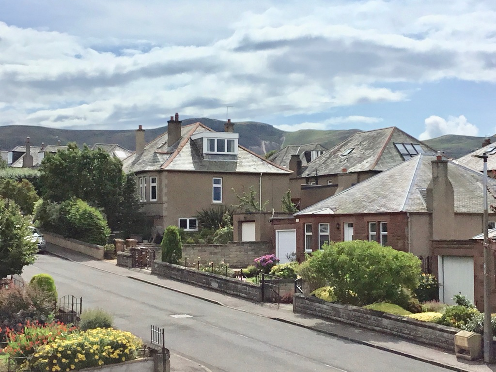 Street view- looking south to Pentland Hills