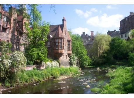 Dean village in central Edinburgh