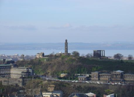 Calton Hill from Salisbury Crags