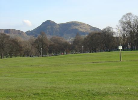 Arthur's Seat from Bruntsfield Links, 2 minutes from home