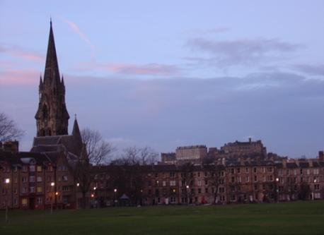 Bruntsfield Links and view of Edinburgh Castle, 2 minutes from home