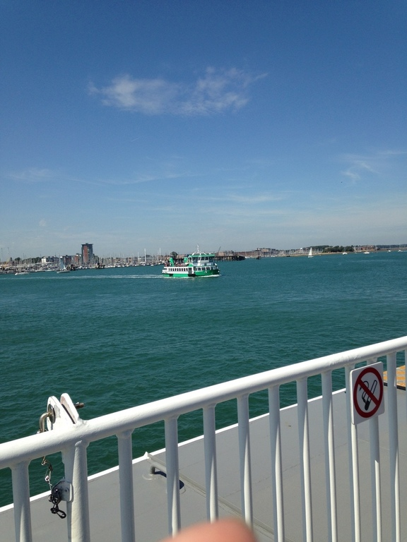 Aboard the ferry in Portsmouth Harbour