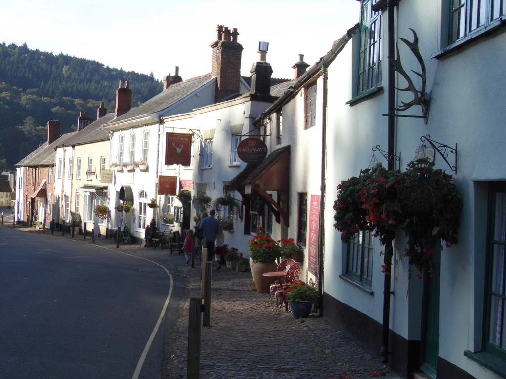 Dunster village, West Street.