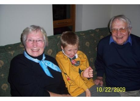 Anne and Ken with grandson Zak