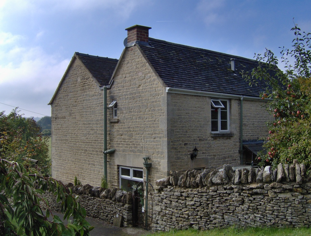 Rear view of the cottage from the village green.