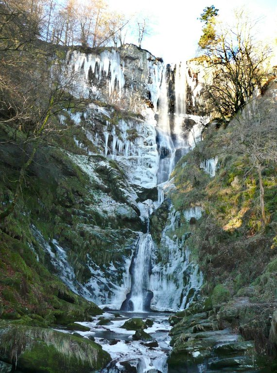 Pistyll Rhaeadr in winter