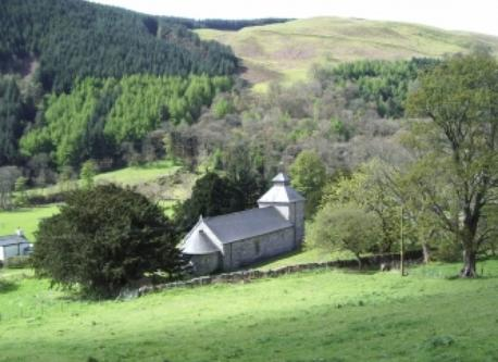Pilgrimage church of St Melangell, near Llangynog