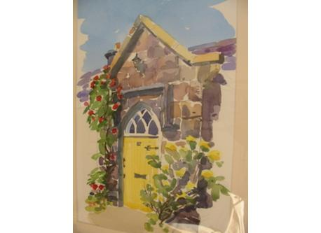 Painting of our house by Irish artist, Barbara Allen.