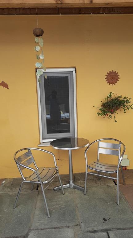 The breakfast corner at the backyard