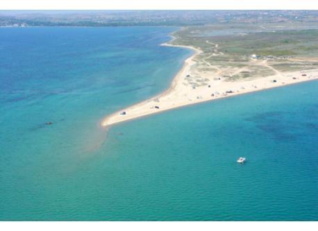 Fanari beach without public bus