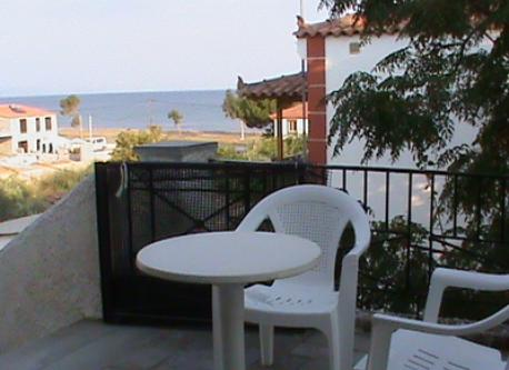 CORNER OF THE BALCONY WITH SEA VIEW
