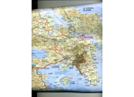 Map  of ATTICA  - Oropos about 40 km. from ATHENS