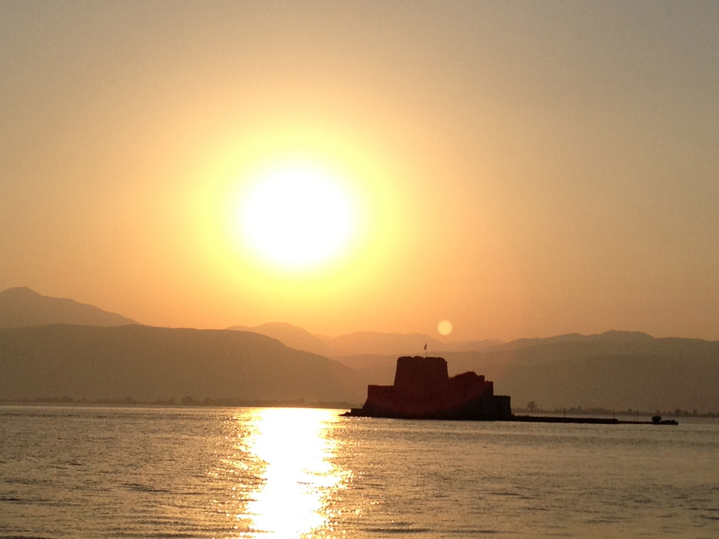Fabulous sunset in Nafplio.