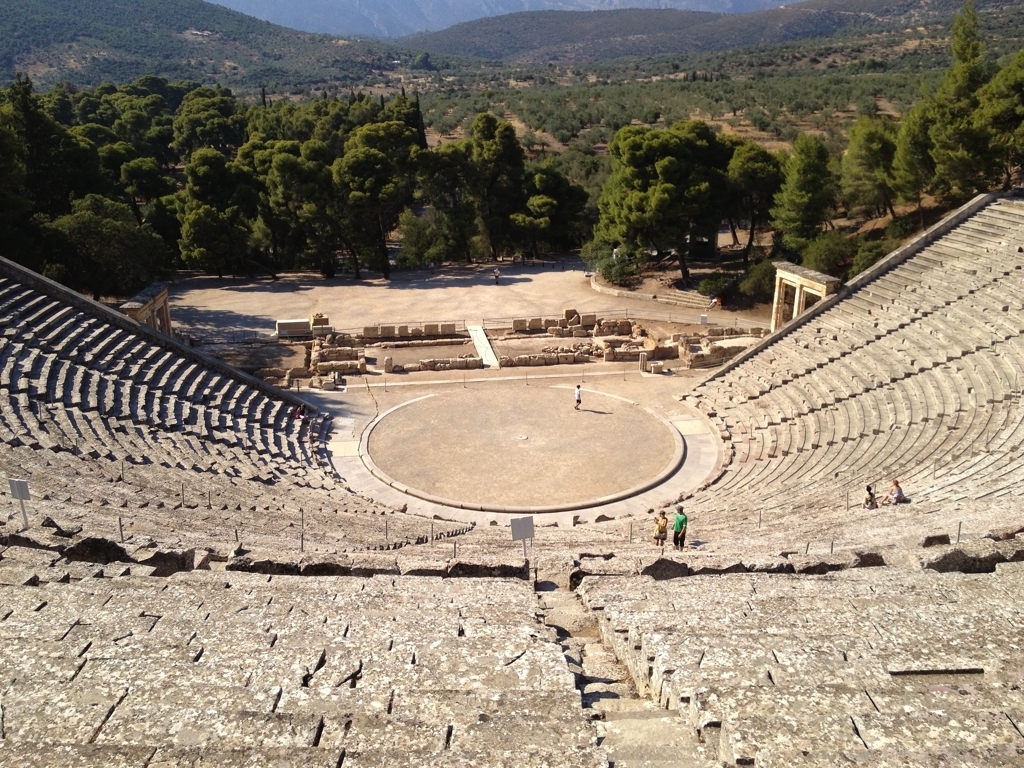 Some beautiful sites worth visiting from our house :Theater of Epidavros