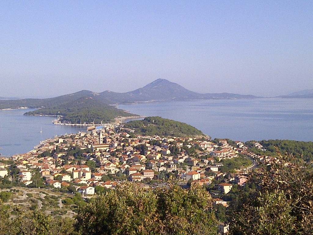 View to the Mali Lošinj and rest of the Lošinj island