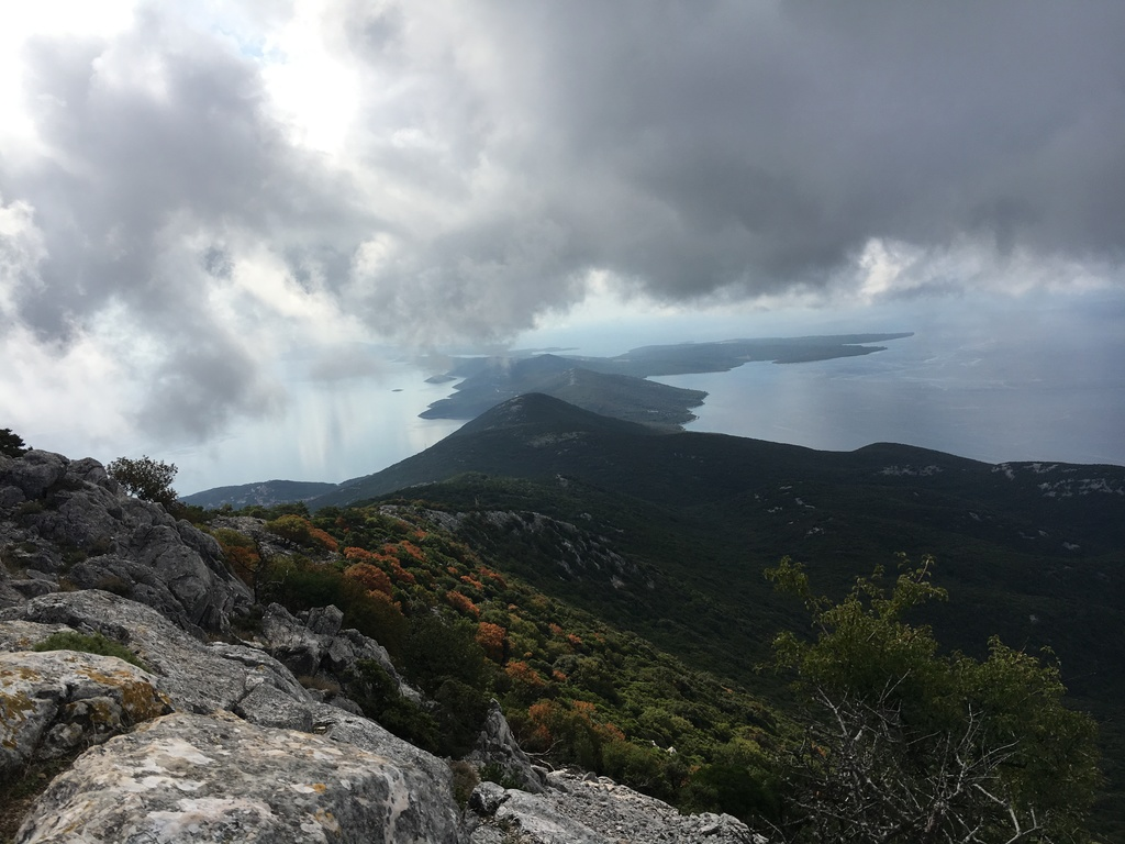 View from Osorcica mountain in the direction of Mali Losinj
