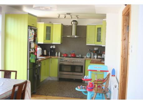 Bright Kitchen, diner and family room