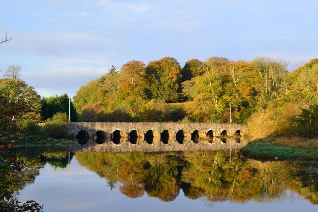 Killala bridge towards lacken and cottage