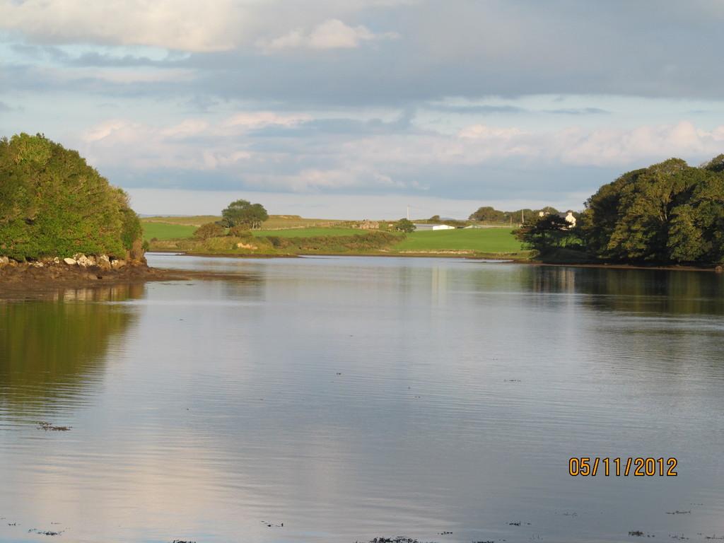 river beside abbey