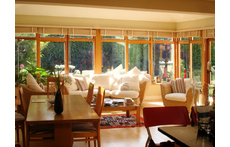 Sunroom and dining area