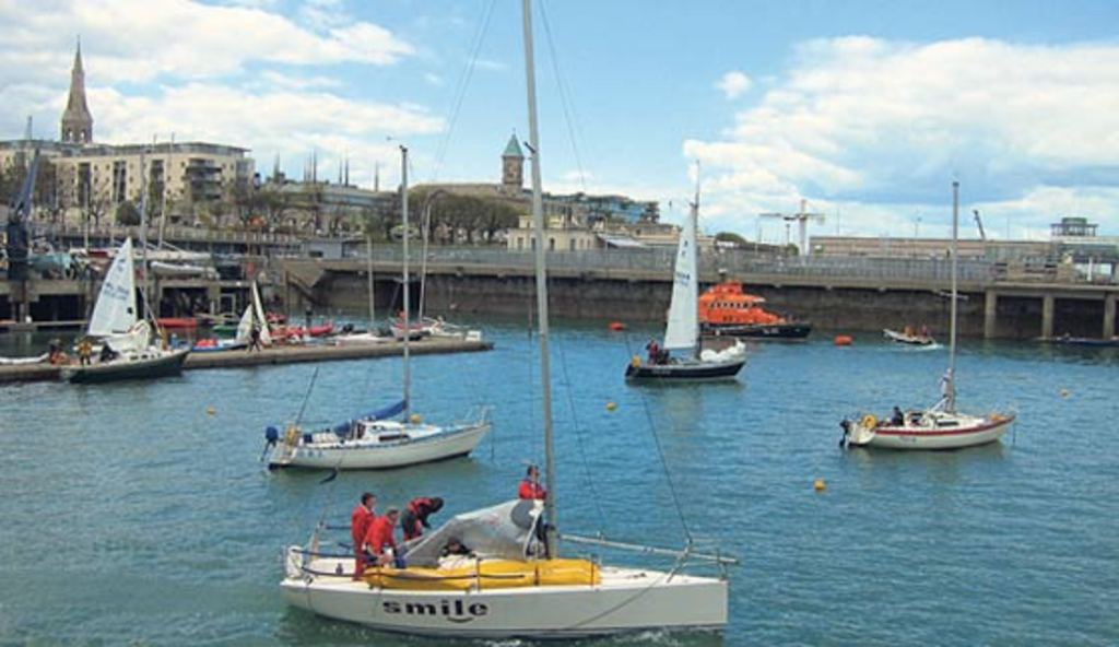 Ireland's main centres for yachting - a 5 minute walk away