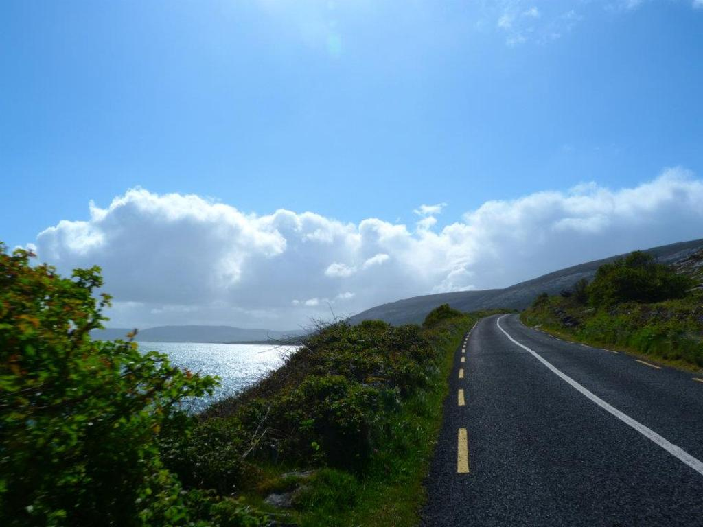 The Coast road leading to Ballyvaughan from the cottage