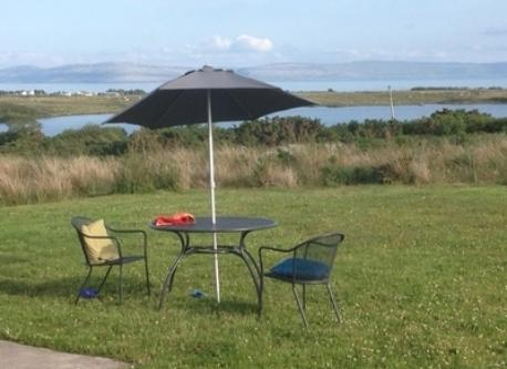View of Loch Ceara and Galway Bay from Garden