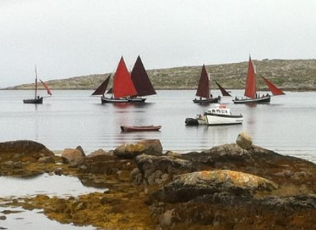 Local boat races — July / August in Kinvara and an Cheathrú Rua
