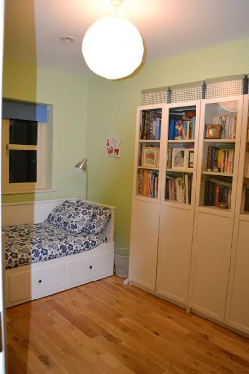 The smallest bedroom/ library