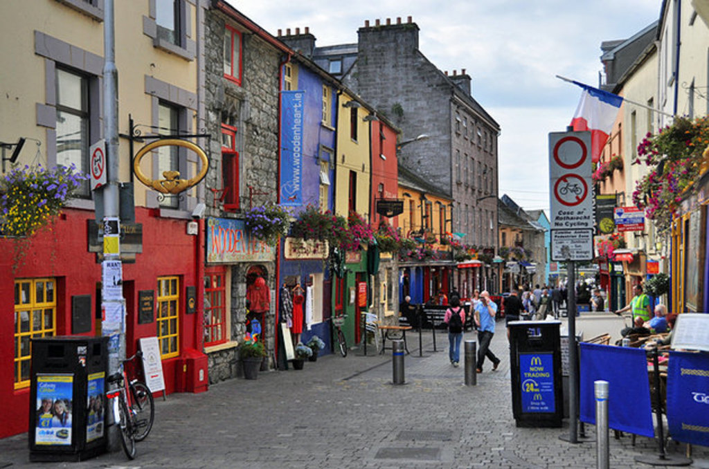 Vibrant and colourful Galway city